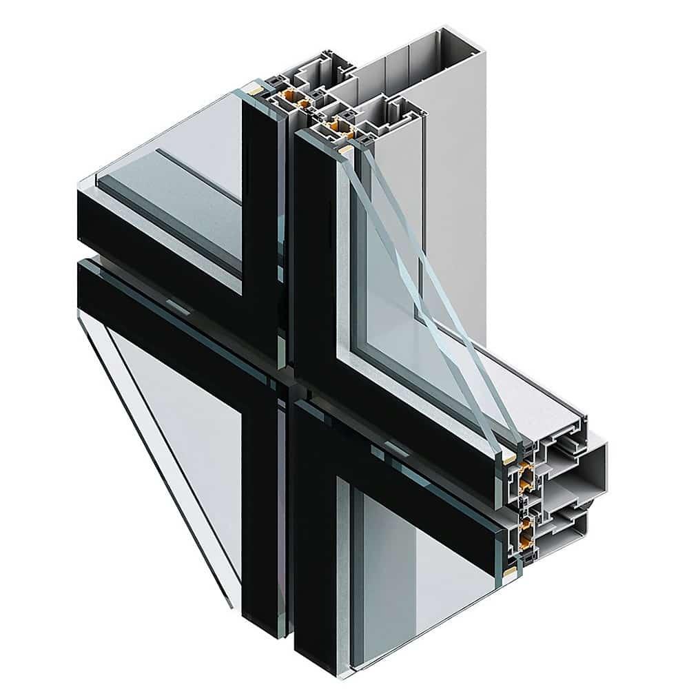 Fatada structurala din sticla si aluminiu